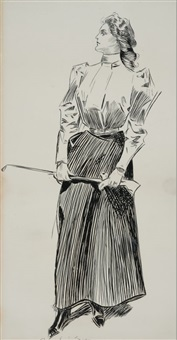 the golfer by charles dana gibson