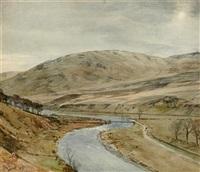 ladhope hill, yarrow by tom scott