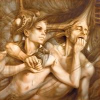 composition surréaliste aux deux visages by gérard di maccio