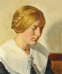 portrait of ella saxild by michael peter ancher
