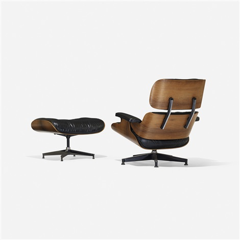 670 lounge chair and 671 ottoman (set of 2) by charles and ray eames