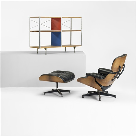670 lounge chair and 671 ottoman set of 2 by charles and ray eames
