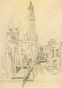woolworth building by george benjamin luks