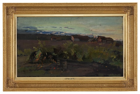 paysage de campagne russe by konstantin alexeievitch korovin