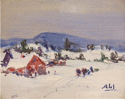 the old farm in winter by henry hammond ahl