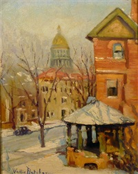 the porch gazebo in winter by vallie fletcher