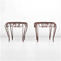 occasional/side tables (pair) by rené drouet