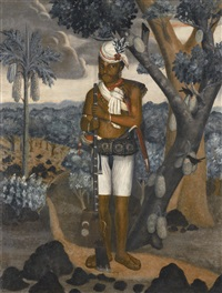 a sepoy with musket by anonymous-indo-portuguese (18)