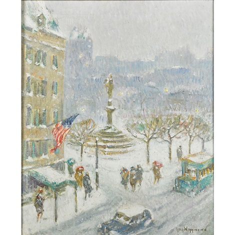 at the plaza winter by guy carleton wiggins