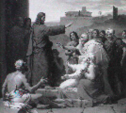 le christ guerissant laveugle by françois louis dejuinne