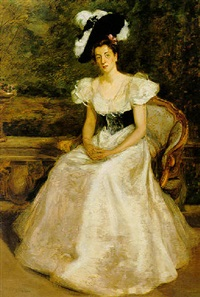 portrait of the honourable sybil robertson by charles e. ritchie