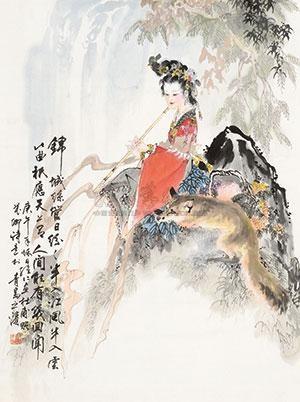 仕女图 by xiang weiren