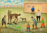the suikki man cures the horse by andreas alariesto