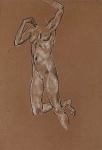 study of a female nude by arthur bowen davies