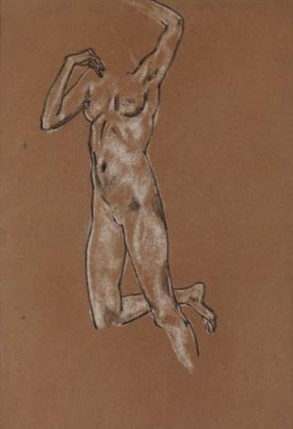 study of a female nude by arthur bowen davies