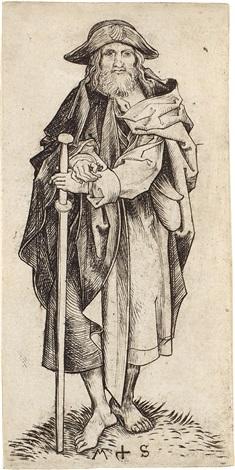 der apostel jakobus der ältere major pl 4 from die apostel by martin schongauer