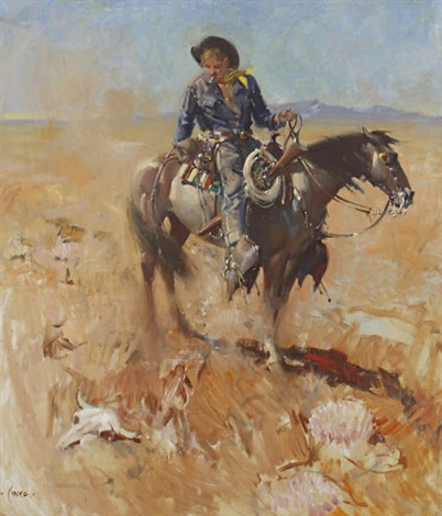 rick pearson cow puncher texas by terence cuneo