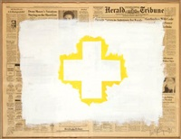 yellow cross by robert longo