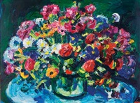 still life with spring flowers by gerhard batha