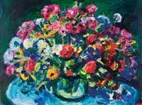 still life with spring flowers by gerhard batha