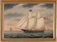 schooner race rock by james gardner babbidge