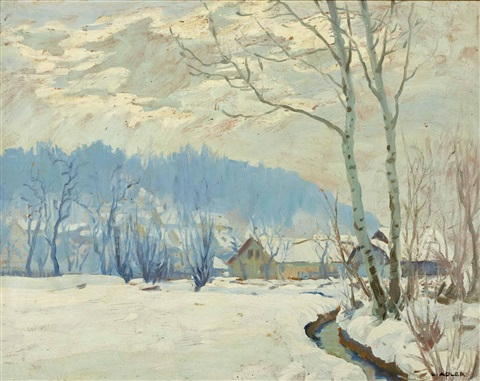 winterlandschaft by leo adler