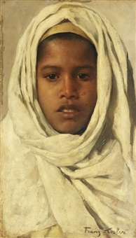 nada, jeune beduin, sinai by franz xavier kosler