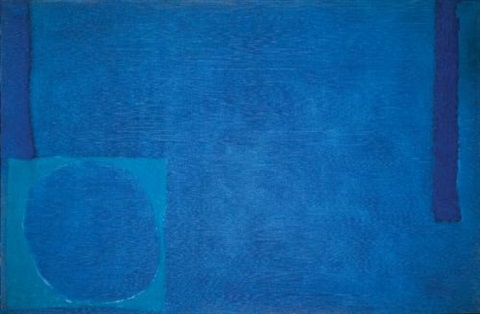 cobalt with ceruleum and ultramarine july 1965 by patrick heron
