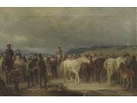 the horse fair by giuseppe mazzola