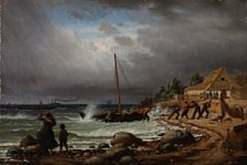 The Fishing Boat Is Drawns Ashore By Peter Johann P Raadsig On Artnet