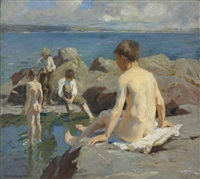 the bathers by harold harvey