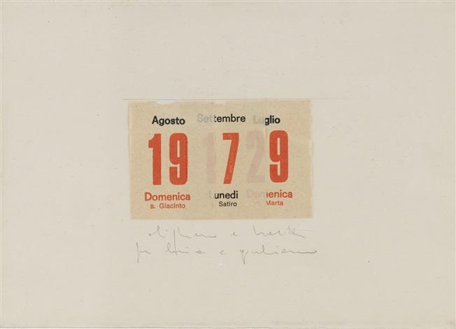 1978 Calendario.Calendario By Alighiero Boetti On Artnet