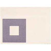 purple series three prints by frank stella