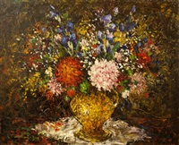 nature morte aux fleurs by charles ziger piget