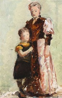 mother and daughter by emilie (caroline e.) mundt