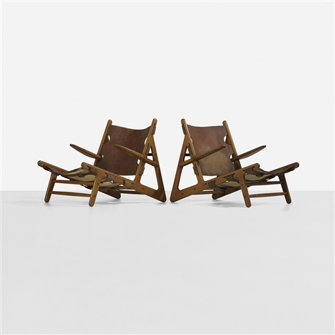 hunting chairs pair by børge mogensen
