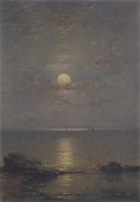 summer moonlight, firth of forth by james cassie