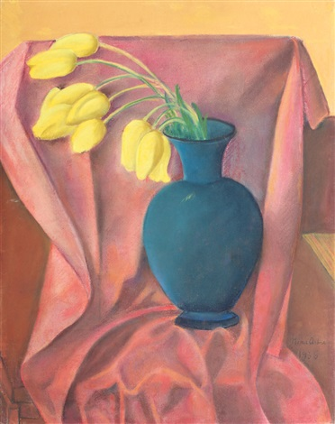 yellow tulips by nina arbore