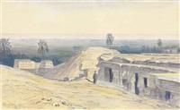 abydos, egypt by edward lear