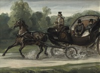 riding in an open carriage by charles rochussen