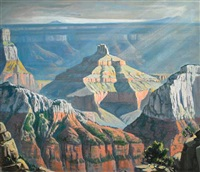 wotans throne, north rim, grand canyon by robert clunie
