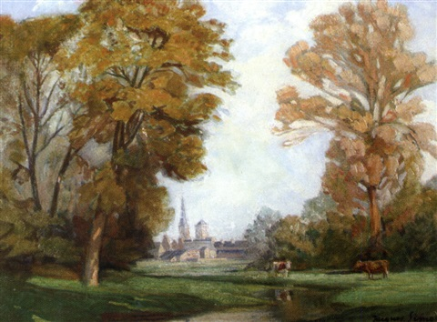 paysage dautomne normandie by jacques roger simon