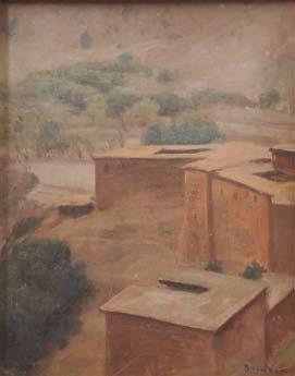 Paysage aux maisons afrique du nord by louis edouard for Angelina maison de l afrique