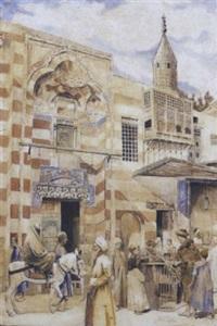 femme voilée sur son cheval dans les rues du caire by arngibbon