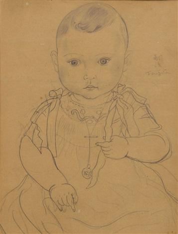 portrait de nouveau né by léonard tsuguharu foujita