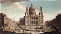 view of st. paul's cathedral by jacopo fabris