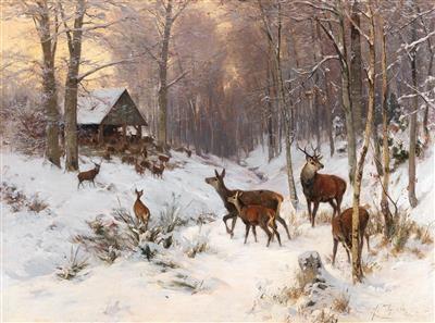 Red Deer In Winter By Arthur Thiele On Artnet (2) do the kids ski a lot in the winter around here? artnet