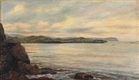 coastal scene from the faroe islands by joen waagstein