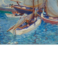 harbor boats by john whorf