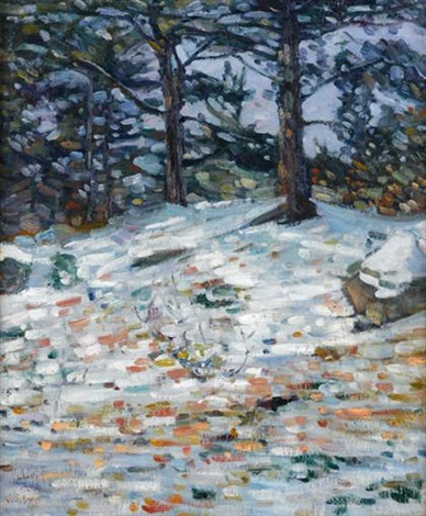 winter woods by charles salis kaelin